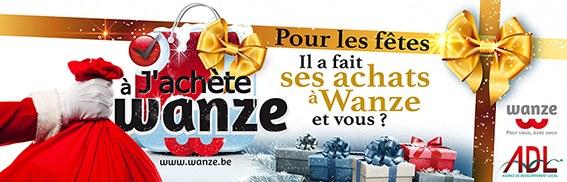 Bandeau J'achète à Wanze aux fêtes de fin d'année